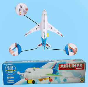 Children Kids Airbus Model A380 Aeroplane Electric Toy With Lights & Sounds UK