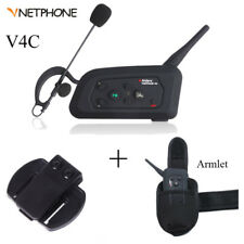VNETPHONE V4C Bluetooth 1000m Intercom Two-way Football Coach Referee Earphone