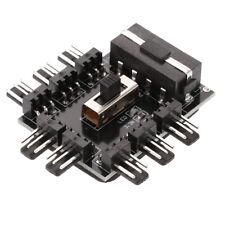 PC FAN HUB 4/3pin 8Channel 3-Gear PCI Cooling Fan Speed Controller Power Adapter