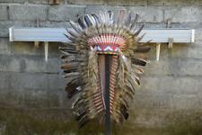 Brown Native Warbonnet Replica Headband Feather Indian Turkey Headdress Handmade