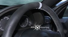 FITS RENAULT MASTER PERFORATED LEATHER STEERING WHEEL COVER + GREY STRAP 1997-10