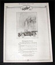 1919 OLD MAGAZINE PRINT AD, WILLYS KNIGHT, SLEEVE VALVE MOTOR, DISTINGUISHED!