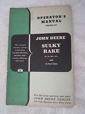 VINTAGE ORIGINAL JOHN DEERE 8, 9, 10, 11, & 12 FOOT SULKY RAKE OPERATORS MANUAL