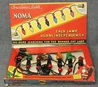 Vtg 1939 7-Bulb NOMA USA Christmas Light Set #3010 w/ Box, Bakelite Plugs WORKS!