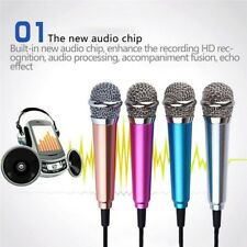 Mini Karaoke Condenser Wired 3.5mm Microphone Mic Mobile Phone For Android 2018