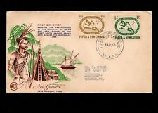 Papua & New Guinea Port Moresby 1st Day 1963 South Pacific Games 5d&1/ Cover 5l
