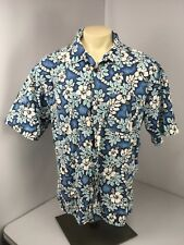 Vtg 90s Oneill Hawaiian Shirt Aloha Wear Beach Surf Camp Blue O'Neill Usa Sz Xl