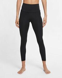 Nike Women's Yoga High-Waisted 7/8 Leggings Black XL NWT $60