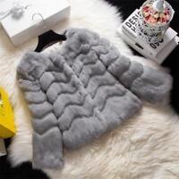 Women's Fur Coats Real Rabbit Fur Short Coat Jacket Wave type Fur Clothing