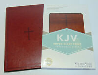 KJV Holy Bible, Large Super Giant Print, Brown Leather-Touch King James Version