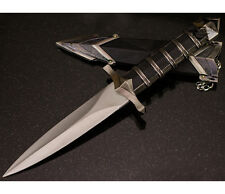 "11.5"" DARK ASSASSIN STAINLESS STEEL SHORT SWORD MEDIEVAL DAGGER w/ SHEATH"