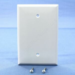 New Cooper White 1-Gang Box Mount Blank Wallplate Oversize Thermoset Cover 2729W
