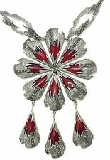 Necklace Carnelian & Marcasite 925 Sterling Silver