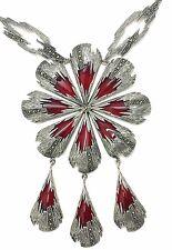 CORNIOLA marcasite üppiges Collier in argento 925 argento sterling