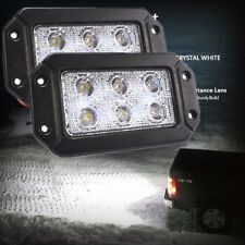 "6"" Aluminum Flood Car Led Light Bar Waterproof Work Lamp for Offraod Jeep 2pcs"