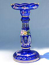 Wunderschöne Kerzenleuchter, Glas geschliffen, Dekor im Biedermeierstil, H. 25cm