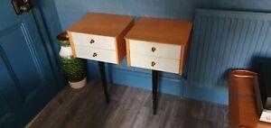 Vintage 1950s 60s Limelight Atomic Mid Century Side Tables