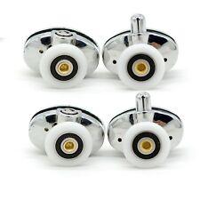 Set of 4 new Oval singel wheel Shower door rollers 23mm