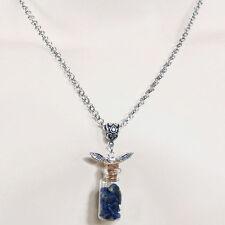 bijou vampire ésotérique magie collier flacon avec des éclats de lapis lazuli