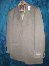 NWT - Jos.A. Bank 100% Wool Gray/Brown Tweed Men's Suit Coat Blazer-Size 46L