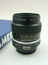 Nikon Micro-Nikkor 55mm F:2.8 AIs manual lens.