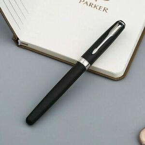 Parker Sonnet Fountain Pen Matte Black Chrome Trim Fine Steel Nib