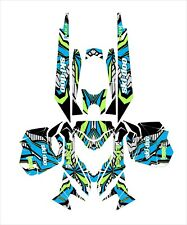 SKI DOO BRP REV Xm  Z SUMMIT GRAPHICS DECAL WRAP 163 154 146 137 lime squeeze