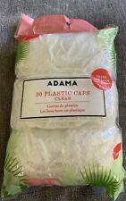 30PCS Disposable Waterproof Plastic Shower Caps Bath Hair Caps