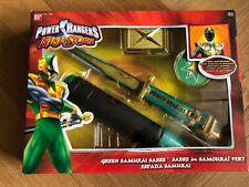 Power Rangers Ninja Storm Green Samurai Sabre Samourai Vert RARE NEW