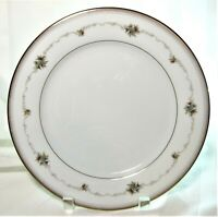 4x Noritake Joanne Japan 6466 Porcelain Dinner Plates Floral Gold Accents 10.5""