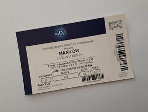 Barry Manilow Tickets - Mint Condition Ticket(s) O2 London 07/09/18 Memorabilia