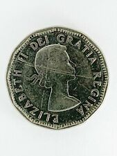 1961 Canadian Beaver 12 Sided Five Cent Nickel Coin - Canada Queen Elizabeth II