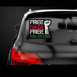 Palestine Free Gaza Freedom Glass Car Protest Windscreen Decal Stickers Label