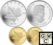 2010 Set 2 Piedfort Reverse-Proof Coins 1oz Silver & 1/5oz Gold ML.9999(12728)NT