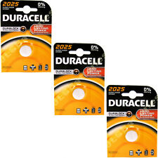 3 x Genuine Duracell 2025 DL2025 CR2025 Coin Cell Batteries