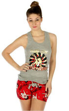 "Betty Boop ""Super Star"" Short Pajama Set, Cotton, Grey/Red, S, M, L, XL"