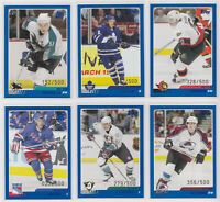 2003-04 Topps Traded Blue /500 - Choose From List - NHL Hockey See Scans