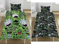 """Rick and Morty Single Duvet Cover """"Get Schwifty"""" Bedding  Quilt Set"""