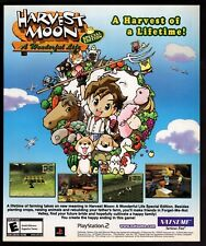 Original  2005 Harvest Moon A Wonderful Life PlayStation 2 Video Game Print Ad