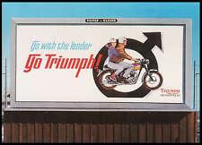 VINTAGE TRIUMPH MOTORCYCLE FACTORY POSTCARD BROCHURE 1967 BONNEVILLE T120R NOS