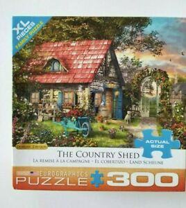 """Eurographics Puzzle The Country Shed 300 XL Pcs Dominic Davidson 19 1/4""""x26 5/8"""
