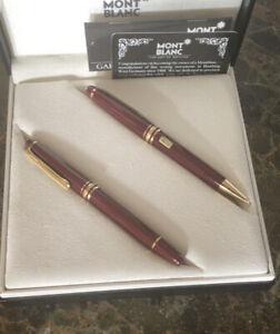 Montblanc Meisterstuck Bordeaux Classique Pen And Mechanical Pencil 0.7mm In Box