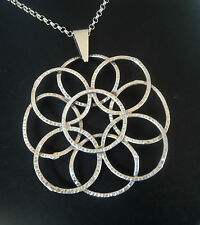 UNUSUAL Norwegian Silver Modernist Pendant + Chain c.1970s  - H.C. Ostrem Norway