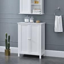 en.casa® Mueble de baño 80x60x30cm Armario con 3 estantes Almacenamiento Blanco