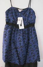 NEW KENSIE GIRL STRAPLESS EMPIRE DRESS - BLACK, PURPLE - SIZE S - MSRP $68.00