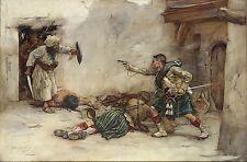 Gordon Highlanders, British Army Afghan War Kandahar, 1880, Art Print 7x5 inches