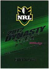 2012 SELECT DYNASTY NRL RUGBY LEAGUE COMPLETE BASE COMMON SET: 196 CARDS + BONUS