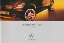 Mercedes A-Klasse Zubehör Prospekt 2004 5/04 brochure accessories accessoires