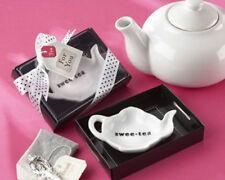 48 Swee-Tea Ceramic Tea Bag Caddy Bridal Shower Wedding Favors