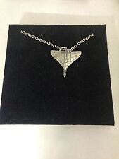 """a Silver Platinum Plated Necklace 18"""" Vulcan Bomber We-Vbkr English Pewter on"""